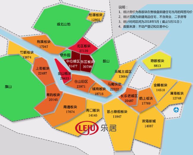 福州各区域最新房价地图
